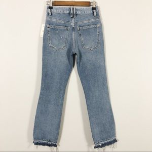 Free People Jeans - Free People High Waist Button Fly Cropped Denim